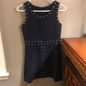 navy blue silver studded dress